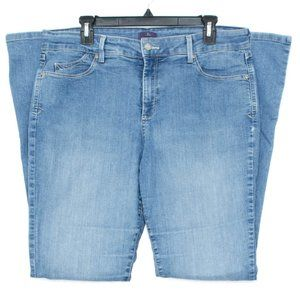NYDJ Womens Jeans Mini Boot Cut Blue 14 EJ